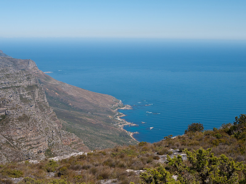 East of Cape Town Aerial View from Table Mountain