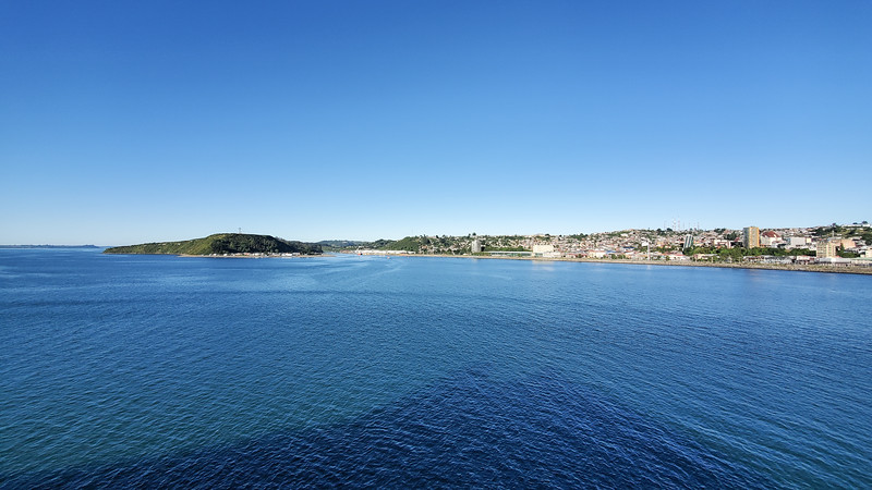 Arriving in Puerto Montt, Chile.