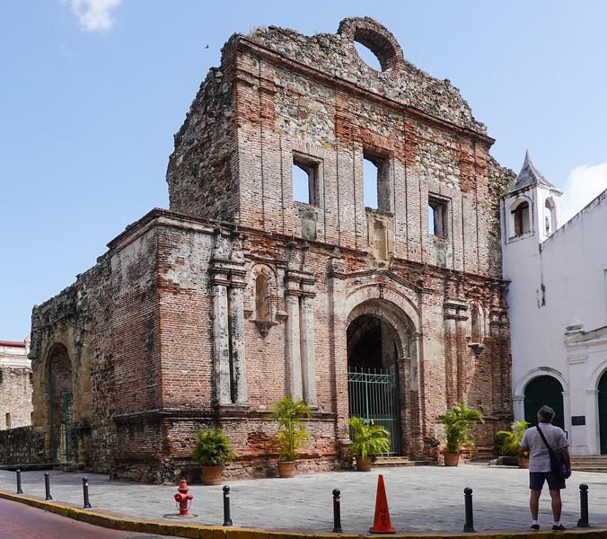 Collapsing Church of Iglesia de la Compania de Jesus, in Panama City, Panama.