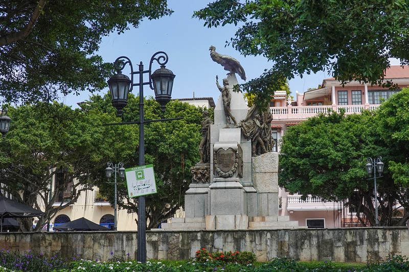 Plaza Bolivar in Panama City, Panama.