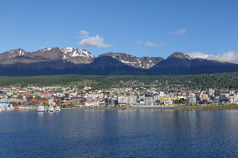 Arriving in Ushuaia, Argentina.