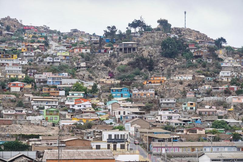 Coquimbo, Chile, hillside life.
