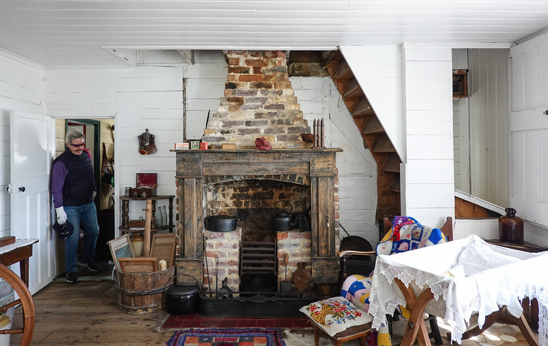 Interior of Cartmell Cottage, constructed in 1849. Pensioners' Cottages, Port Stanley, Falkland Islands, U.K.