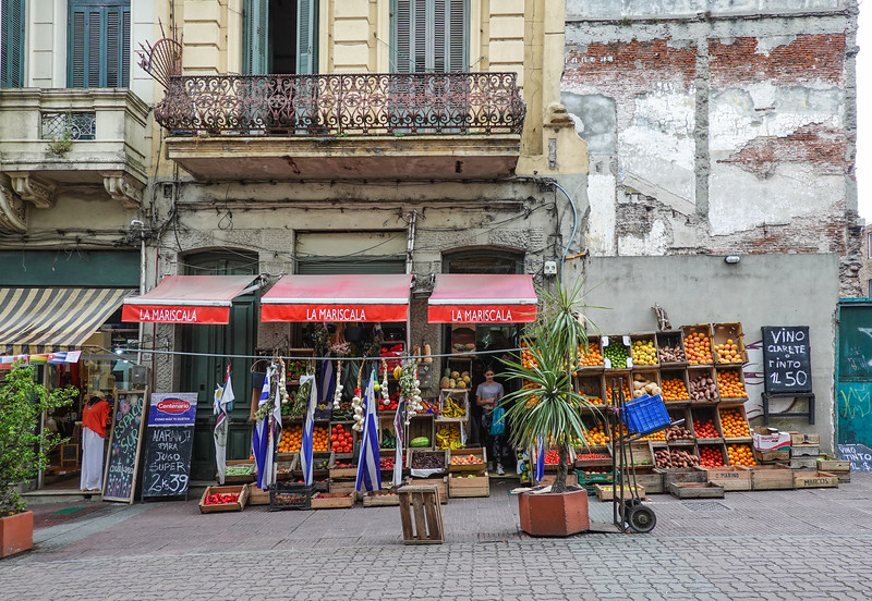 Local street market in Montevideo, Uruguay.