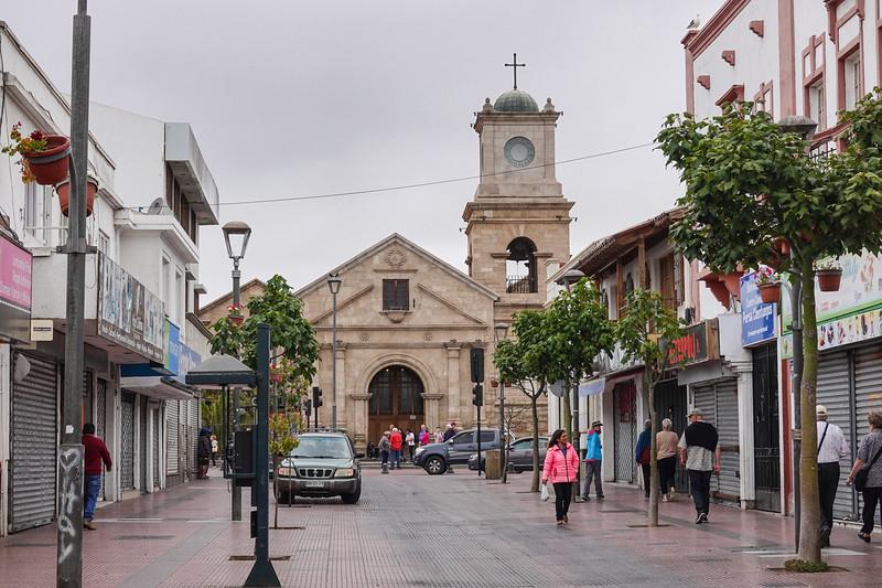 Church adjacent La Recova Craft Market, in  La Serena, Chile.