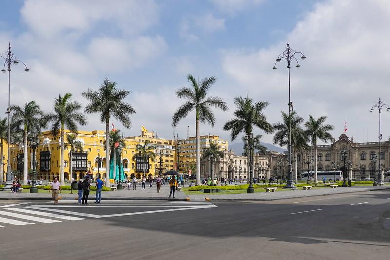 Plaza de Armas in Lima, Peru.