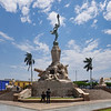The Freedom Monument, located in the center of the Plaza de Armas in Trujillo, Peru, is the work of sculptor Edmund Möeller.
