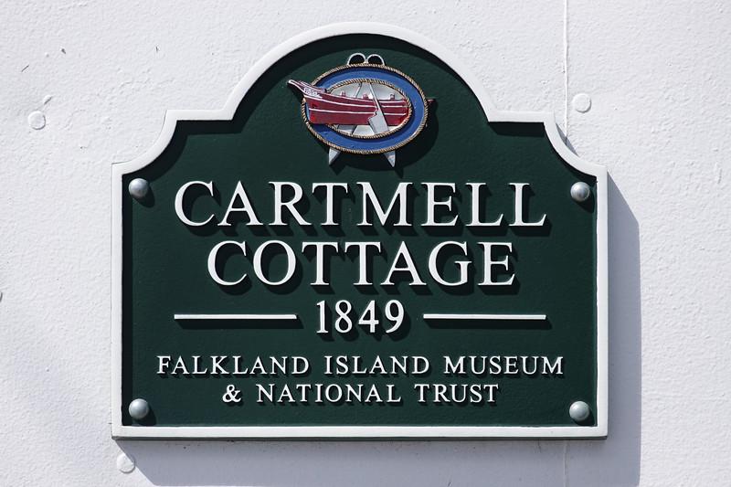 Historic Cartmell Cottage dating from 1849, Port Stanley, Falkland Islands, U.K.