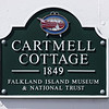 Historic Cartmell Cottage dating from 1849, Port Stanley, Falkland Islands, U.K.