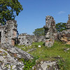 Remains of old 17th Century Panama City on the museum grounds in Panama City, Panama.