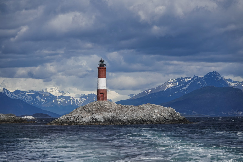 Les Eclaireurs Lighthouse in Beagle Channel, outside Ushuaia, Argentina.