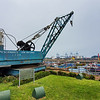 Fifty-eight year old ship's crane once used commercially in Port San Antonio, Santiago, Chile.