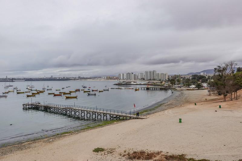 South-side of Horseshoe Beach, Coquimbo, Chile.