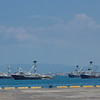 Tuna fishing ships docked at the Port of Manta, in Montecristi, Ecuador.