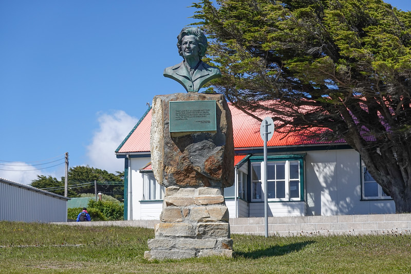 Monument to Margaret Thatcher in the Falkland Islands, U.K.