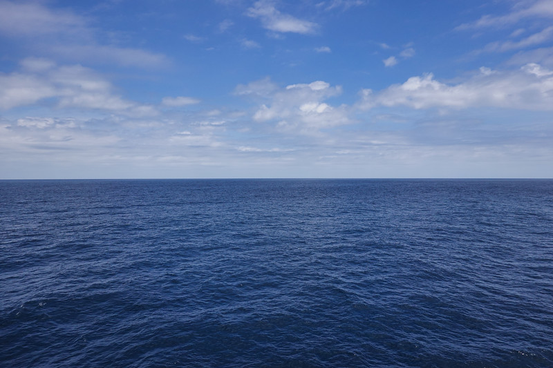 January 7th, 2020, lazy day at sea, Pacific Ocean.