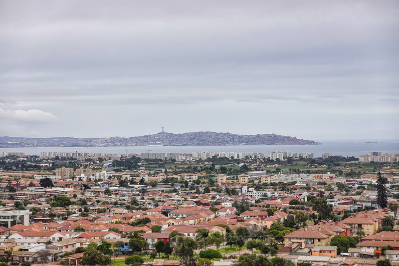 View of Coquimbo, Chile, from the La Serena University overlook.