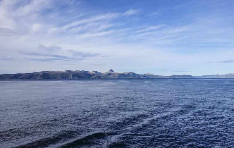 Scenic cruising off the coast of Argentina nearing Ushuaia.