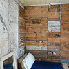 Inside wall construction of Cartmell Cottage, dating from 1849. Pensioners' Cottages, Port Stanley, Falkland Islands, U.K.