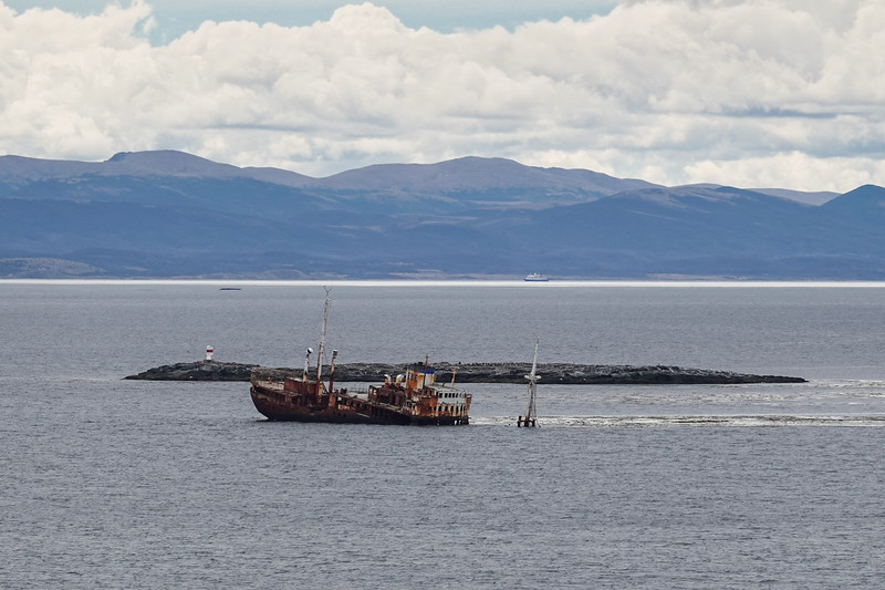Not every ship makes it through the Beagle Channel, Chilean Fjords.