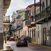Streets of Panama City in the Old Colonial District.