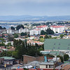 View from Cerro la Cruz lookout in Punta Arenas, Chile.