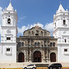 The Metropolitan Cathedral with its dual bell towers in Panama City, Panama.