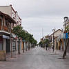 Street leading to the Church adjacent the La Recova Craft Market, in  La Serena, Chile.
