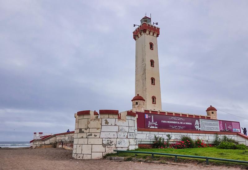 The Faro Monumental Lighthouse in De La Serena, Chile.