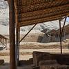 Human sacrifice area of the Temple of the Moon, Ancient City of Moche,  outside Trujillo,  Peru.