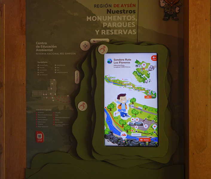 Area map of the grounds of the park we visited in Chacabuco, Chile.
