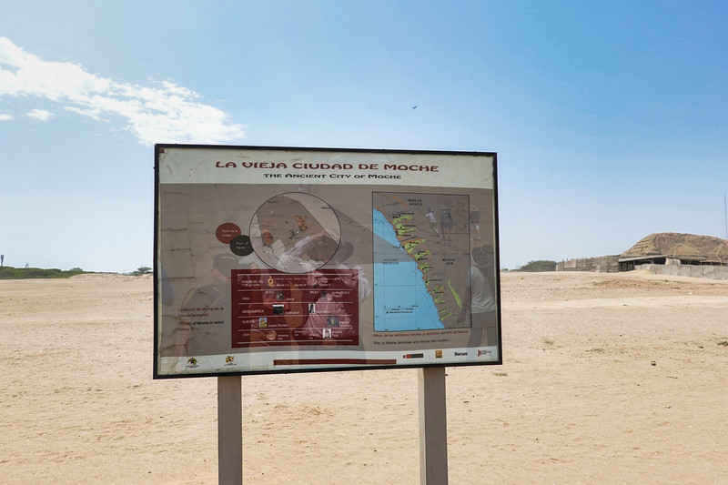 The Ancient City of Moche included the Temples of the Sun and Moon, located outside Trujillo, Peru.