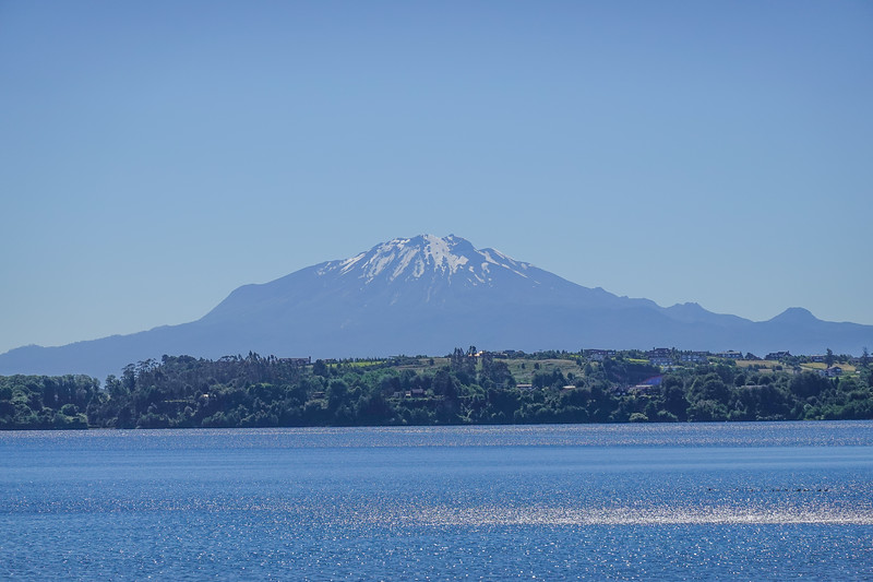 The Calbuco Volcano, also visible across Lake Llanquihue from Puerto Varas, Chile.