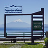 In Puerto Varas, we are looking across Lake Llanquihue with the Osomo Volcano framed in the distance.