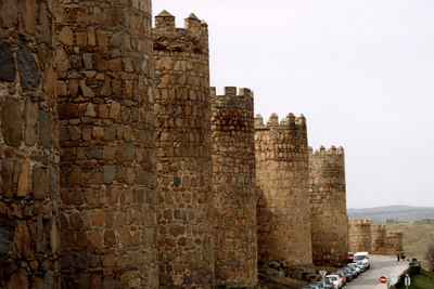All of the towers - Avila, Spain ... March 2003 ... Photo by Rob Page III