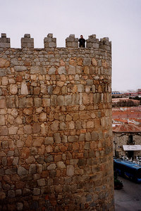 Look at how small Tali is - Avila, Spain ... March 2003 ... Photo by Rob Page III