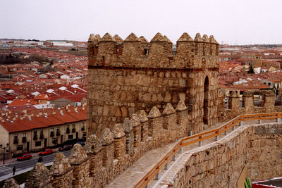 One of the towers - Avila, Spain ... March 2003 ... Photo by Rob Page III