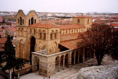 A church outside the old central part of the city - Avila, Spain ... March 2003 ... Photo by Rob Page III
