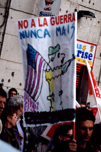 An anti-war protest - Madrid, Spain ... March 2003 ... Photo by Rob Page III