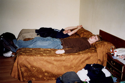 Hanging out in the hostel - Madrid, Spain ... March 2003 ... Photo by Rob Page III