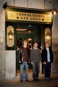 Outside the Chocolateria - Madrid, Spain ... March 2003 ... Photo by Rob Page III