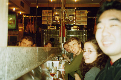 In a Taparia with Kaz, Kate, Keith, and Tali - Segovia, Spain ... March 2003 ... Photo by Rob Page III