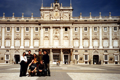 All of us in front of the Palacio Real de Madrid.  This is the official residence of the King of Spain - Madrid, Spain ... March 2003