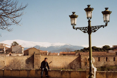 Kaz enjoying the Spanish life - Segovia, Spain ... March 2003 ... Photo by Rob Page III