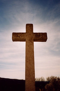A cross - Segovia, Spain ... March 2003 ... Photo by Rob Page III