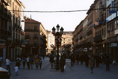 The streets of this Spanish city - Segovia, Spain ... March 2003 ... Photo by Rob Page III