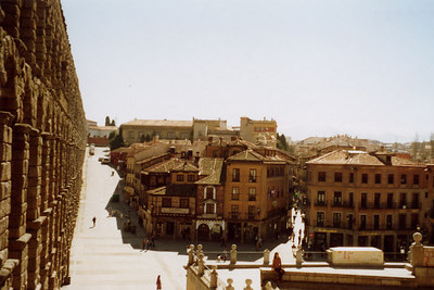Along the aqueduct in Segovia - Segovia, Spain ... March 2003 ... Photo by Rob Page III