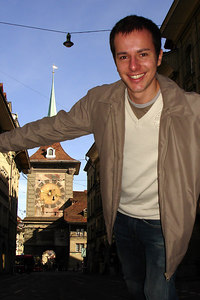 Michael and the Zytglogge - Bern, Switzerland ... March 4, 2007 ... Photo by Rob Page III