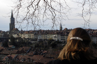 Emily looks out at the Swiss capital - Switzerland ... March 4, 2007 ... Photo by Rob Page III