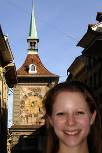 Emily and the Zytglogge - Bern, Switzerland ... March 4, 2007 ... Photo by Rob Page III
